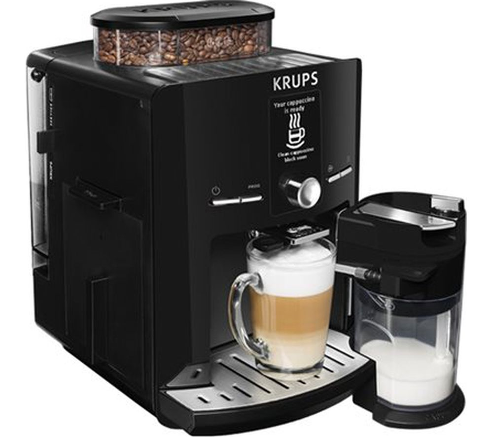 buy krups espresseria ea8298 bean to cup coffee machine black free delivery currys. Black Bedroom Furniture Sets. Home Design Ideas