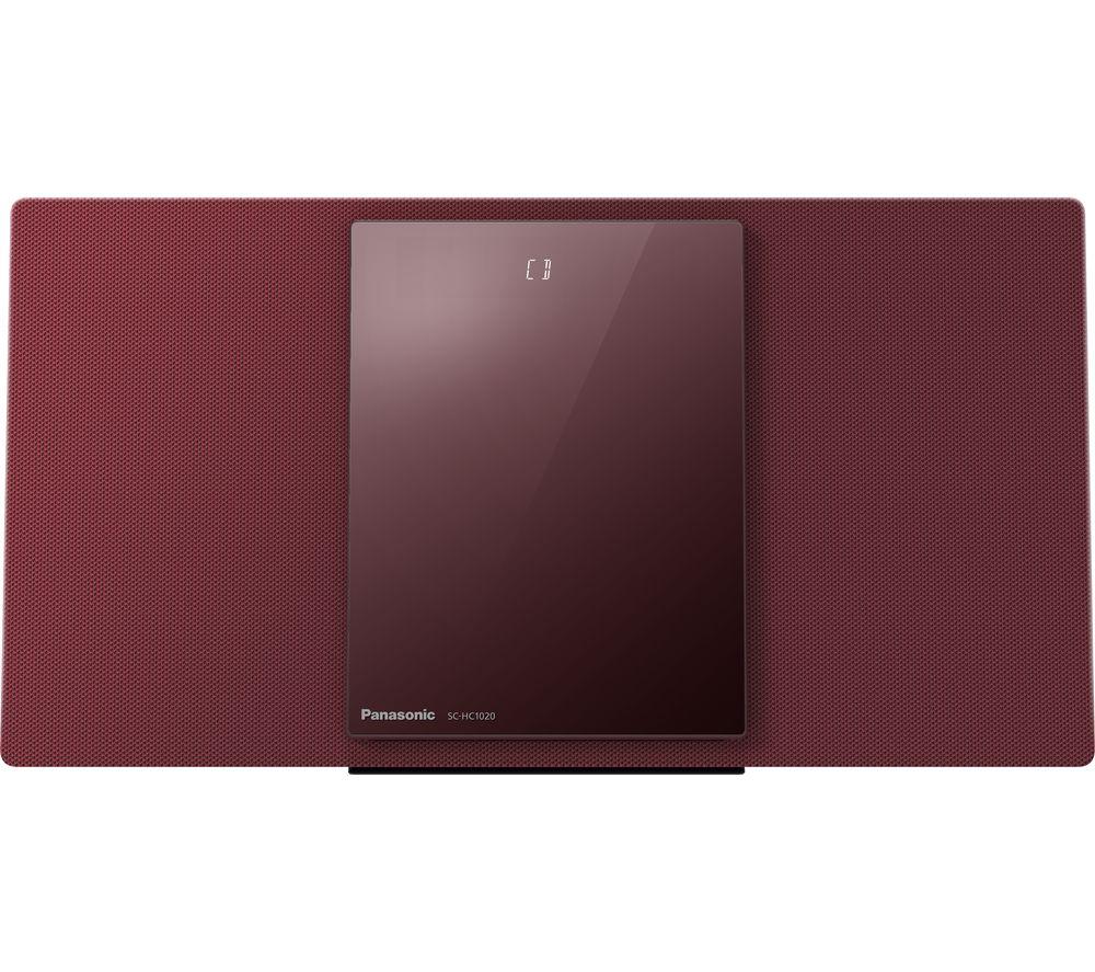PANASONIC SC-HC1020EBR Wireless Flat Panel Hi-Fi System - Red