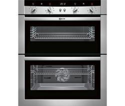 NEFF U17M52N3GB Electric Built-under Double Oven - Stainless Steel