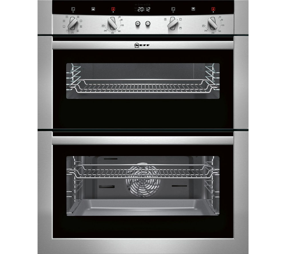Buy neff u17m52n3gb electric built under double oven stainless steel free delivery currys - Neff electric ...