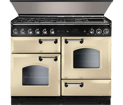 RANGEMASTER Classic 110 Dual Fuel Range Cooker - Cream & Chrome