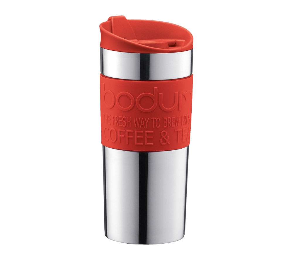 Image of BODUM 11068-294 Travel Mug - Red, Red
