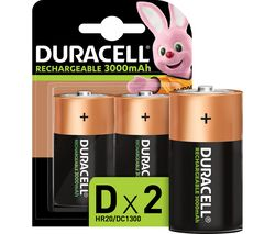 DURACELL Accu D Rechargeable NiMH Batteries - 2 Battery Pack
