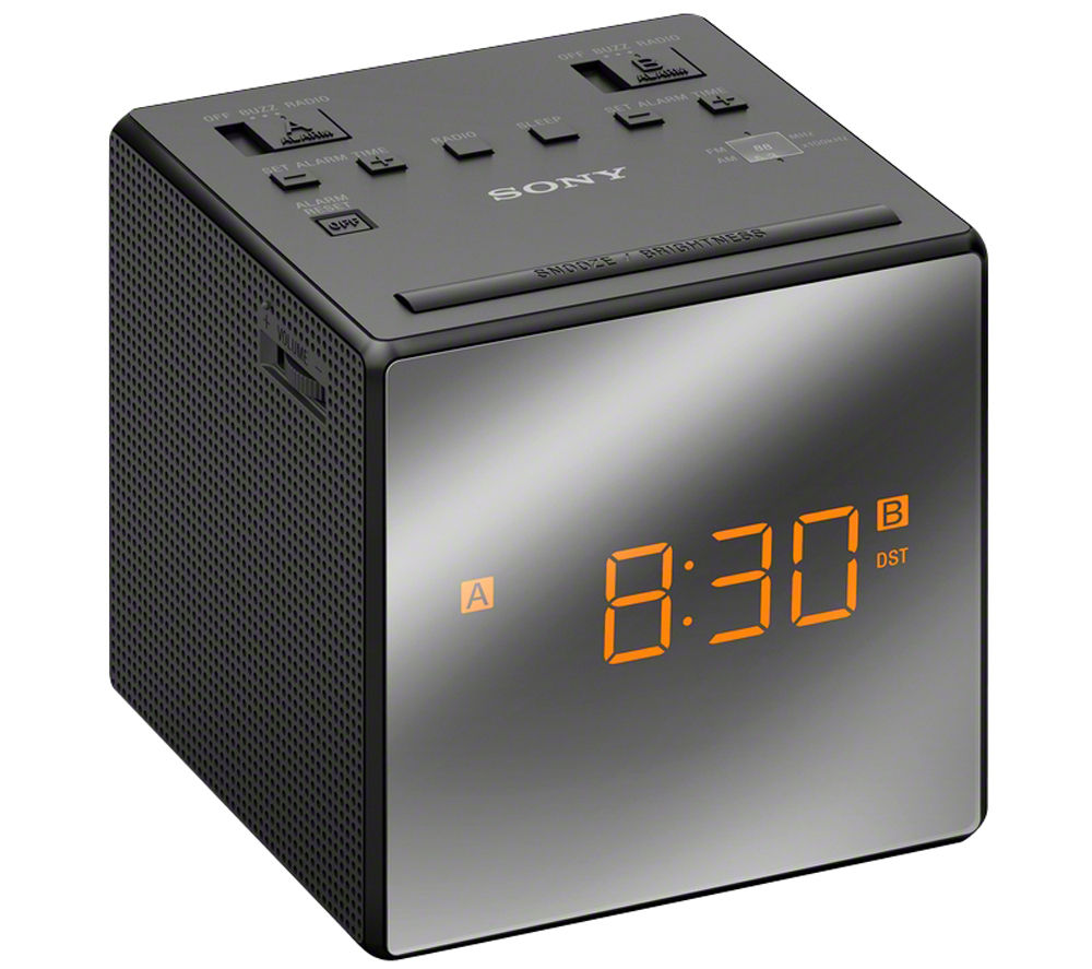 SONY ICFC1TB Analogue Clock Radio - Black