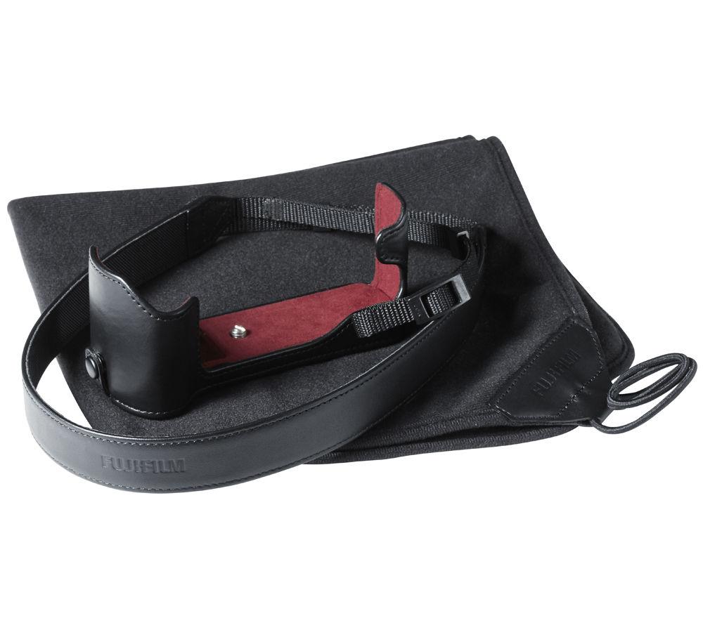 FUJIFILM Genuine Leather X-T1 Compact System Camera Case - Black