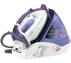 TEFAL Express GV7630 Compact Steam Generator Iron - White & Purple