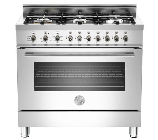 BERTAZZONI Professional 90 DE X906DUALX Dual Fuel Range Cooker - Stainless Steel