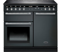 RANGEMASTER Hi-LITE 100 Electric Induction Range Cooker - Slate & Chrome