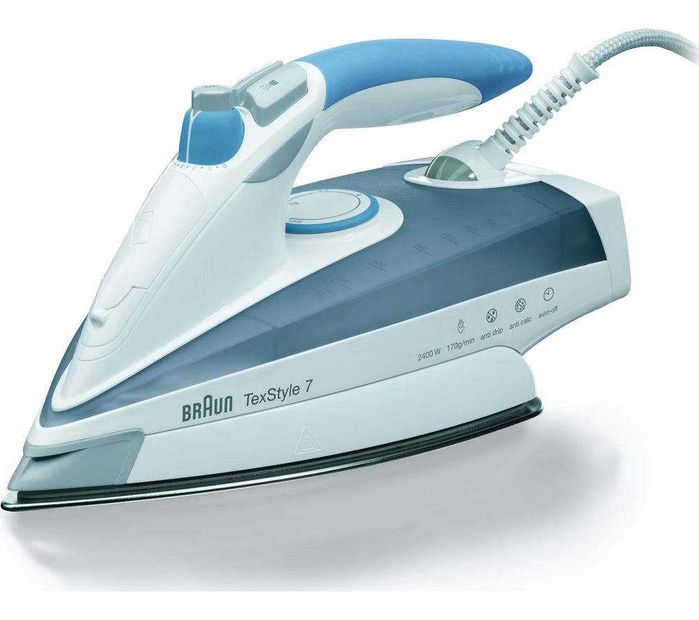 BRAUN  TexStyle 7 TS765A Steam Iron  Grey & Blue Braun