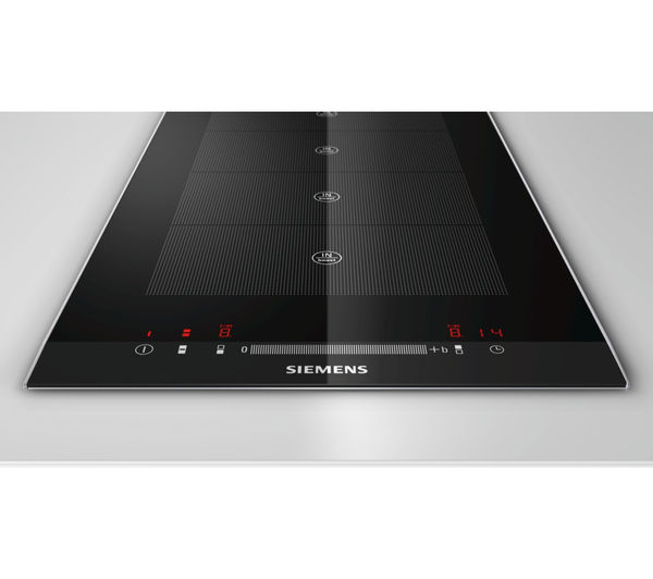 buy siemens eh375mv17e electric induction domino hob black free delivery currys. Black Bedroom Furniture Sets. Home Design Ideas