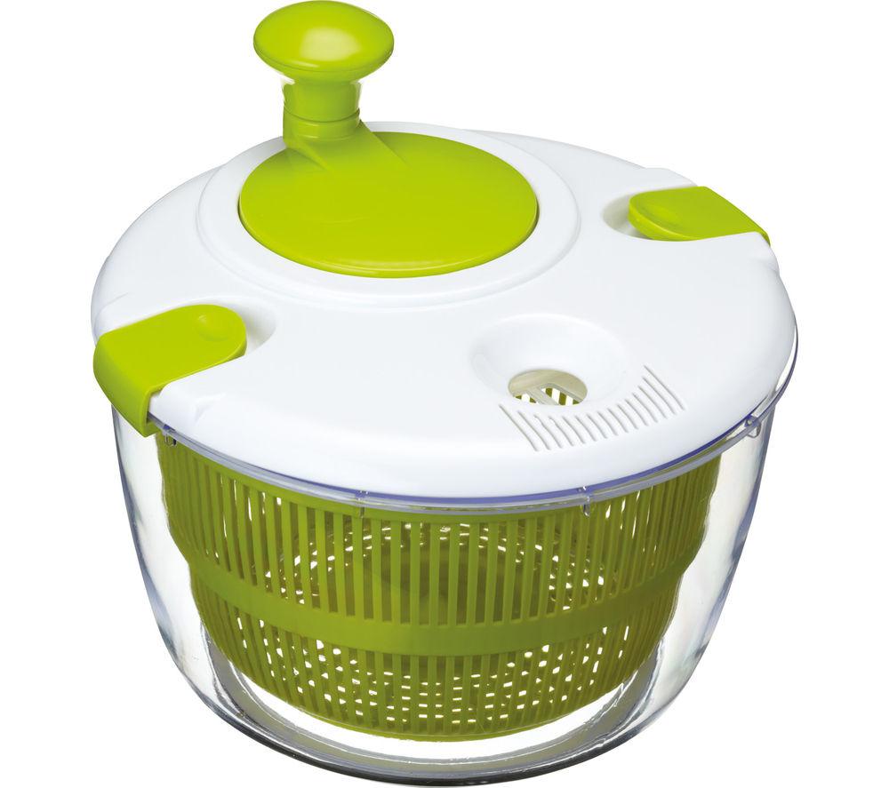 KITCHEN CRAFT Salad Spinner - White & Green