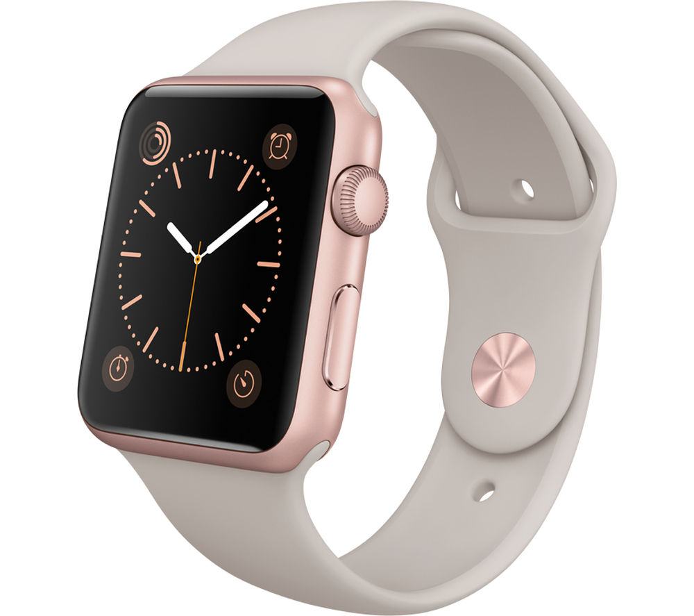 APPLE Watch 42 mm with Sports Band - Rose Gold & Stone