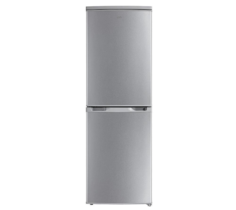 LOGIK  LFC50S16 Fridge Freezer  Silver Silver