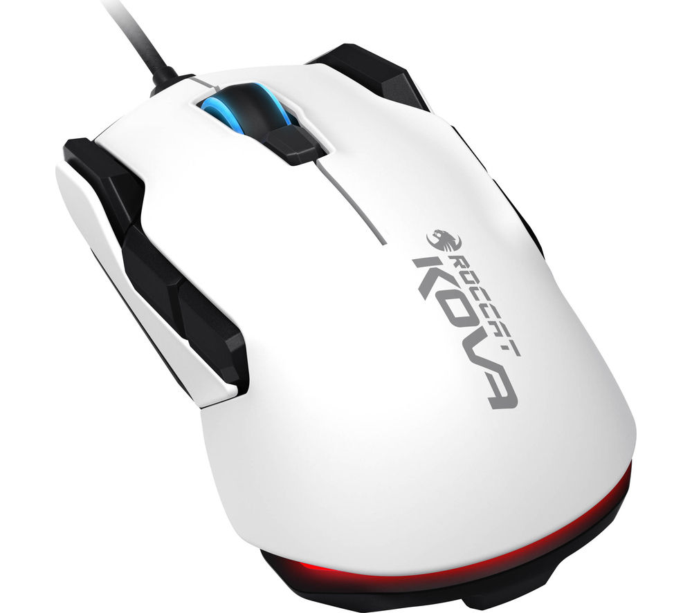ROCCAT  Kova Pure Performance Optical Gaming Mouse - White, White
