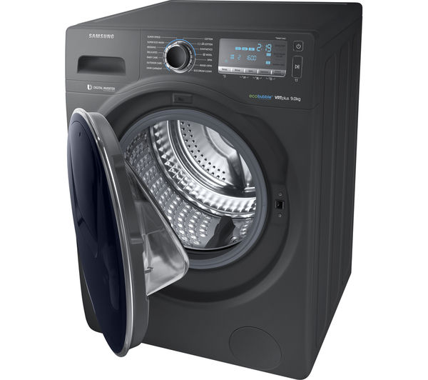 buy samsung addwash ww90k7615ox washing machine graphite free delivery currys. Black Bedroom Furniture Sets. Home Design Ideas