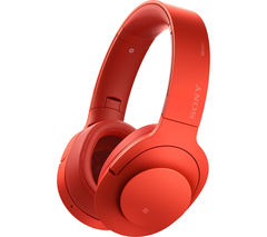 SONY h.ear on MDR-100ABNR Wireless Bluetooth Noise-Cancelling Headphones - Red