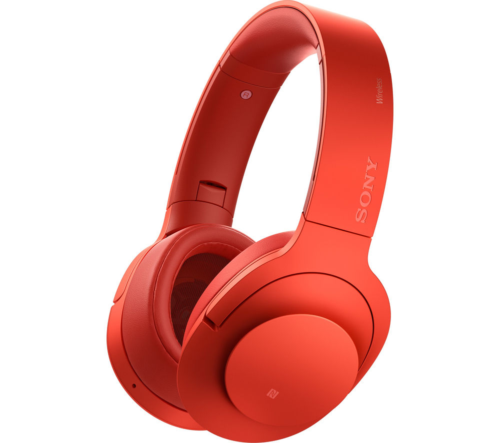 Click to view more of SONY  h.ear on MDR-100ABNR Wireless Bluetooth Noise-Cancelling Headphones - Red, Red
