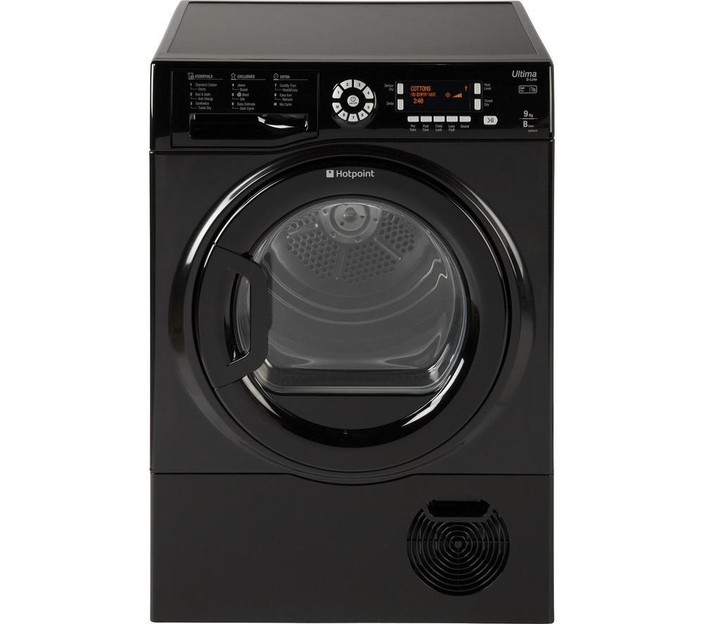 Lg Tumble Dryer Black ~ Hotpoint futura sutcd b km condenser tumble dryer black