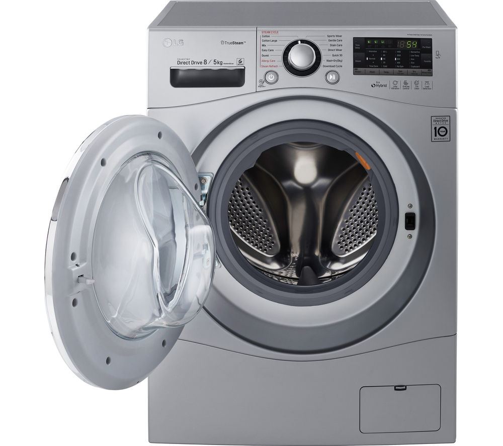 LG  FH4A8TDH4N Washer Dryer  Silver Silver