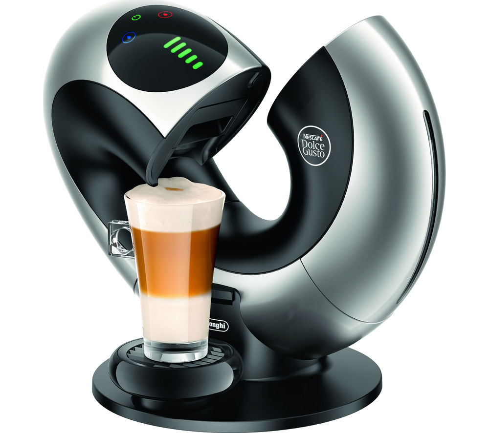 DOLCE GUSTO  Dolce Gusto Eclipse EDG736.S Coffee Machine  Black & Silver Black