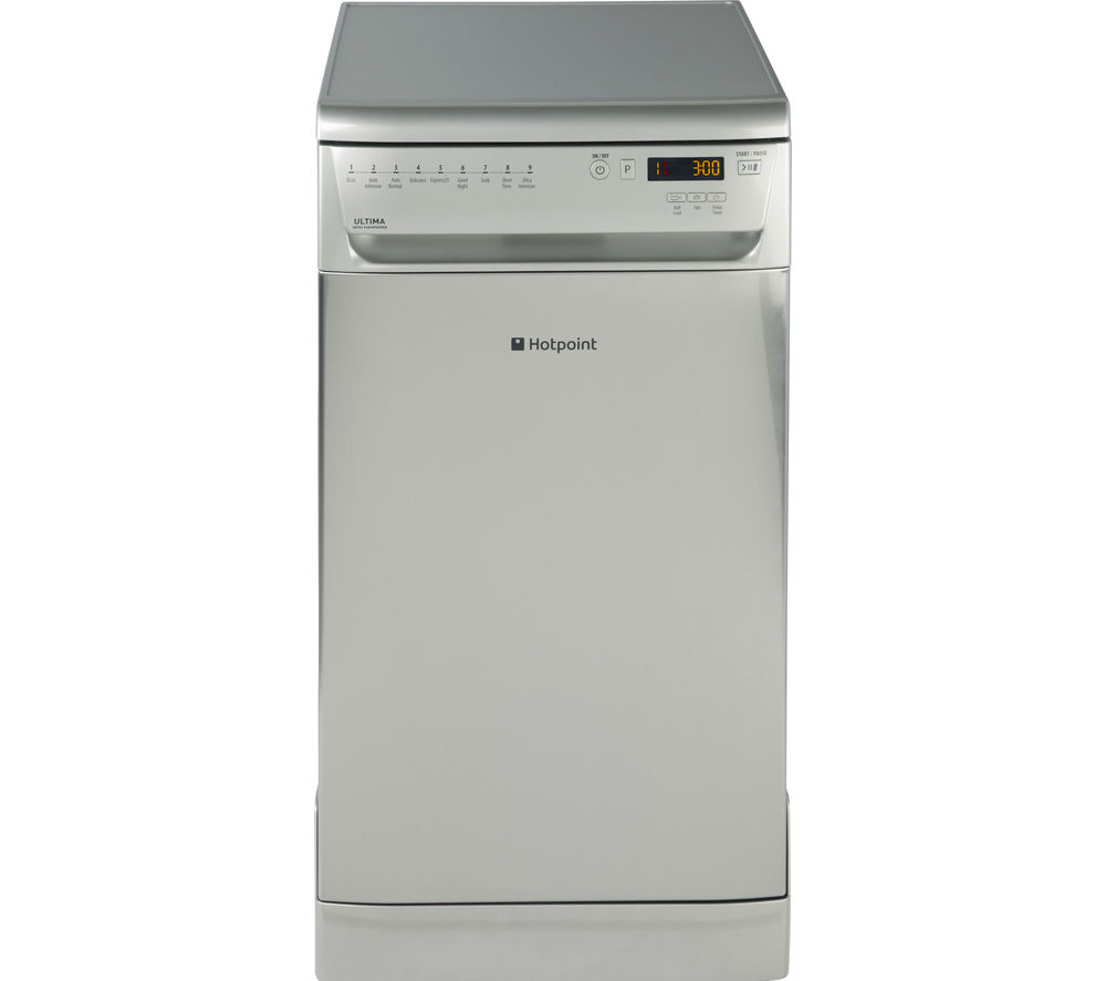 Image of HOTPOINT Ultima SIUF32120X Slimline Dishwasher - Stainless Steel, Stainless Steel