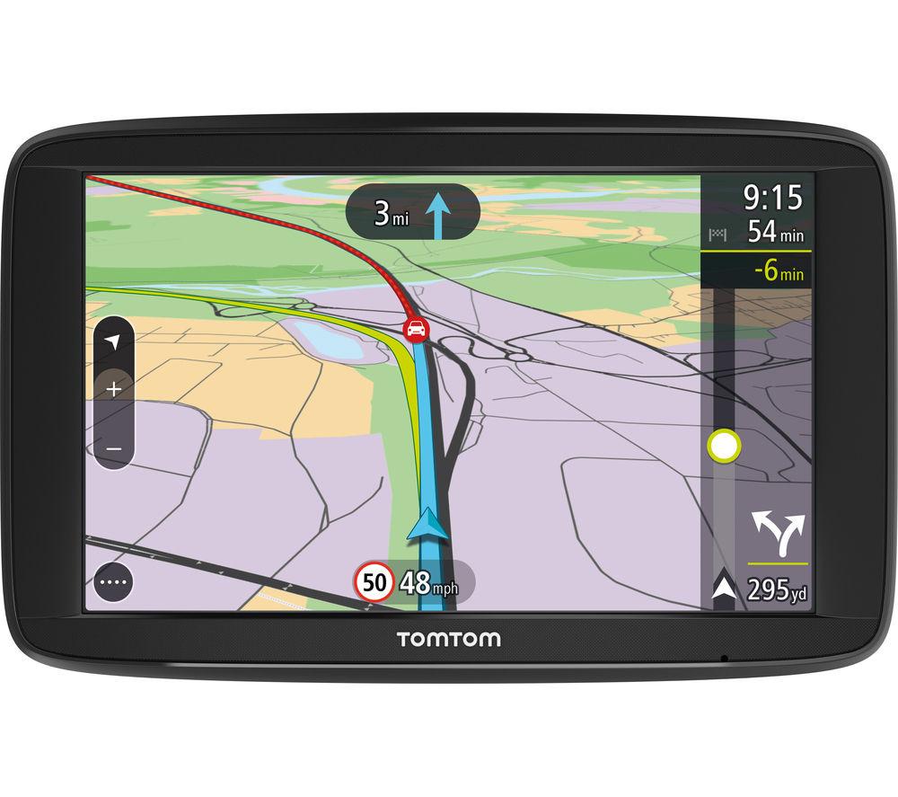 "TOMTOM VIA 62 6"" Sat Nav - with UK, ROI & Western Europe Maps"