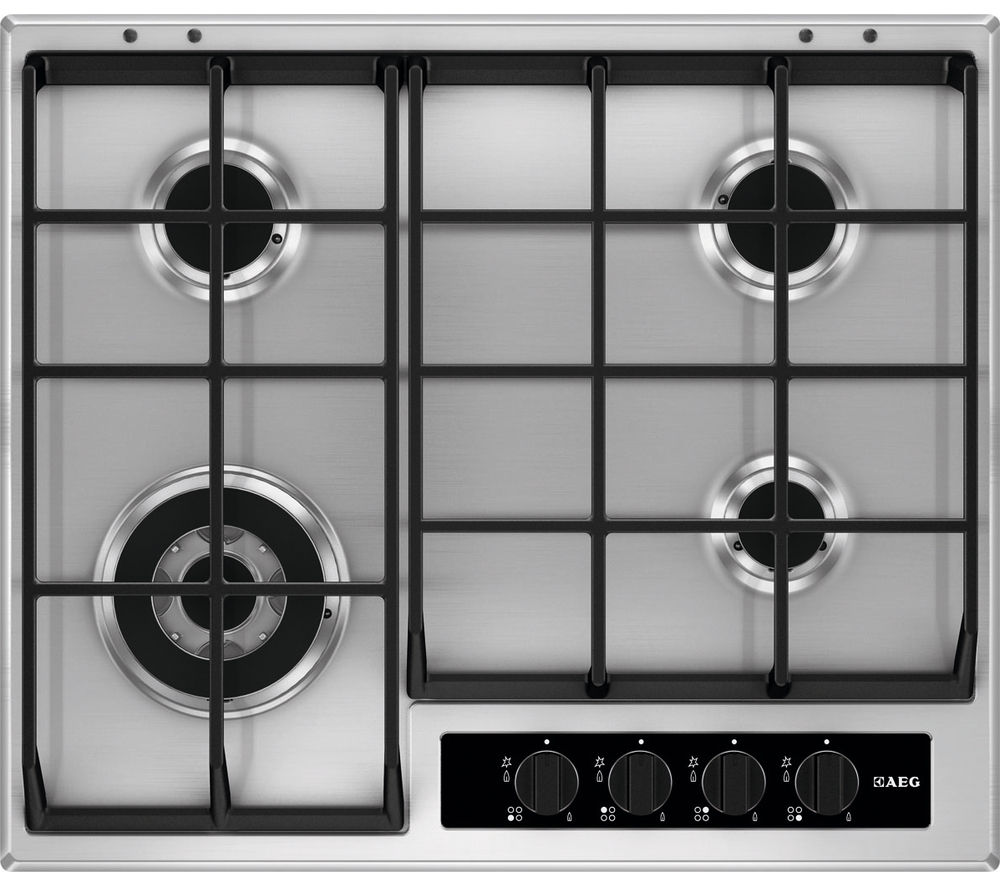 AEG  HG65SY4550 Gas Hob  Stainless Steel Stainless Steel