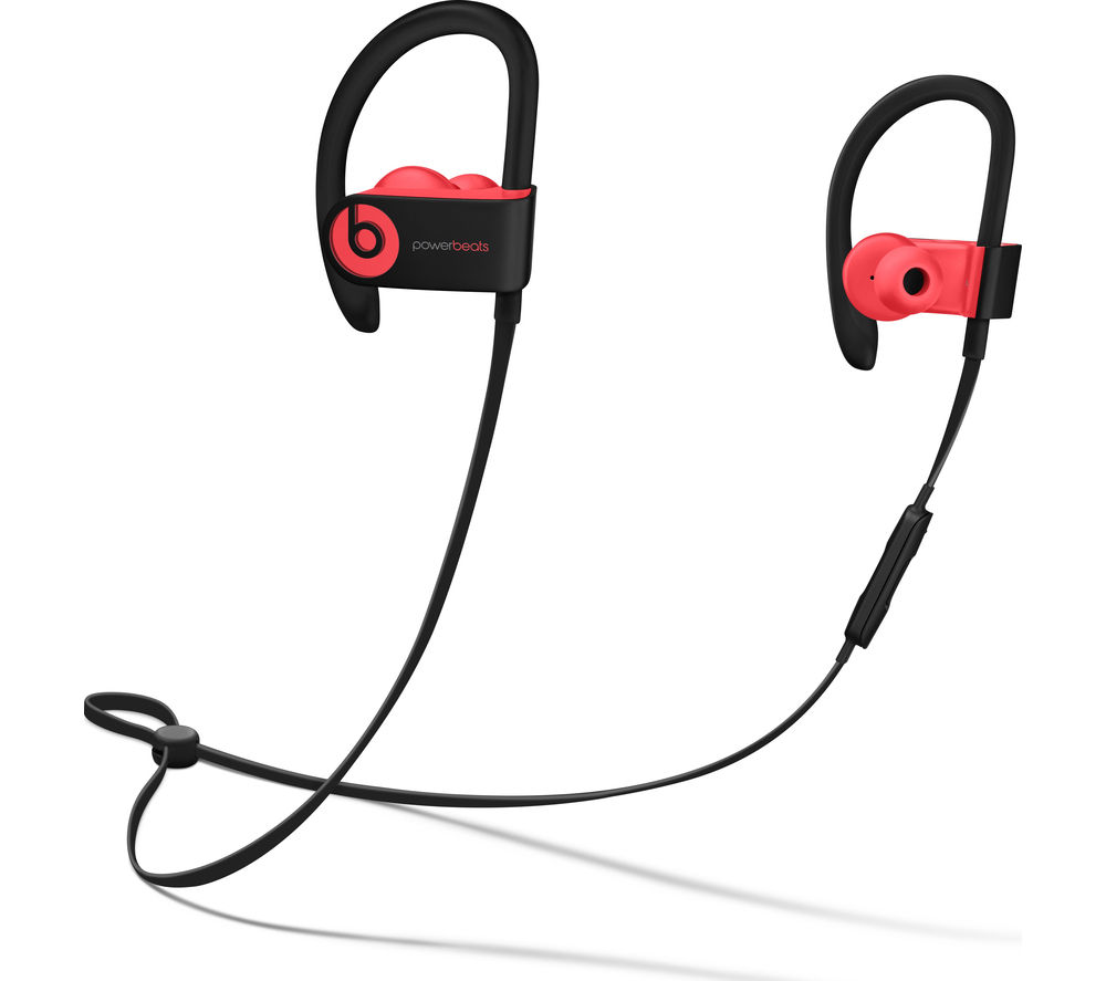 Image of BEATS BY DR DRE Powerbeats3 Wireless Bluetooth Headphones - Siren Red, Red