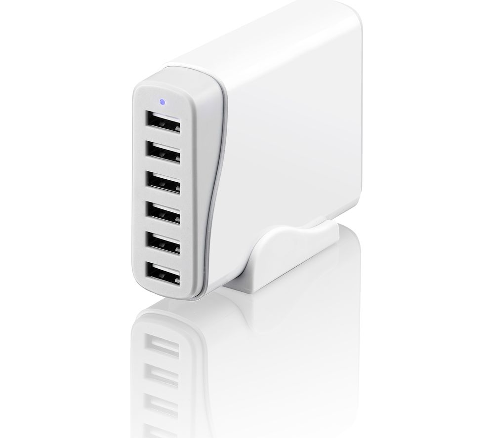 SANDSTROM SMA6WH17 8A 6-ports USB Charger - 1 m