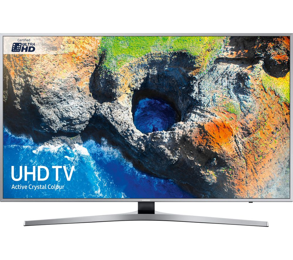"""SAMSUNG UE55MU6400U 55"""" Smart 4K Ultra HD HDR LED TV + S1HDM315 HDMI Cable with Ethernet - 1 m"""