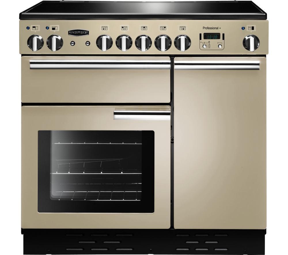RANGEMASTER Professional+ 90 Electric Ceramic Range Cooker - Cream & Chrome