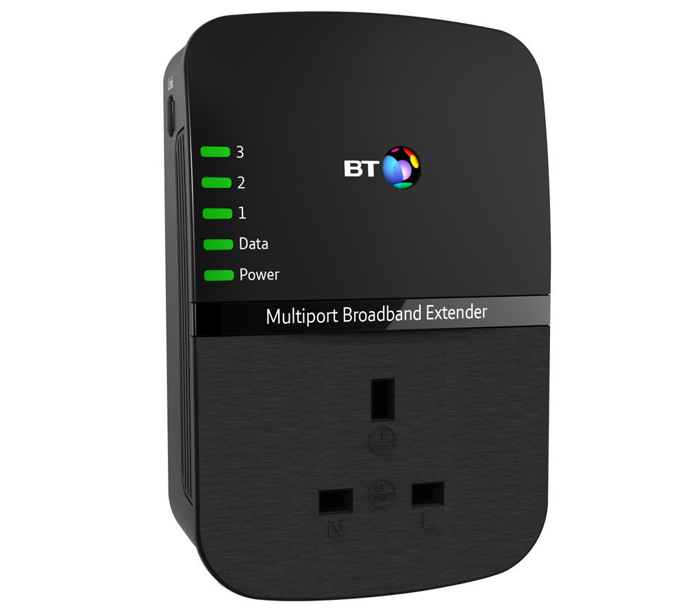 BT Multiport Broadband Extender 500 Powerline Adapter Add-on