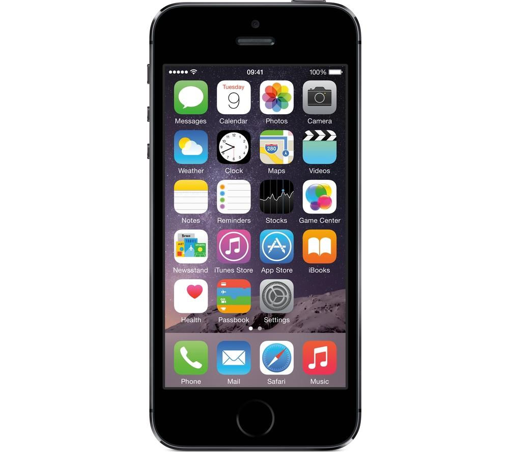 buy apple iphone 5s 32 gb space grey free delivery. Black Bedroom Furniture Sets. Home Design Ideas