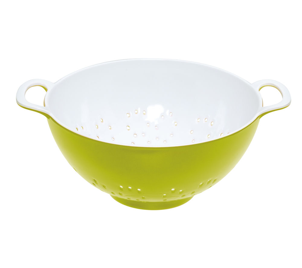 COLOURWORKS Small Colander - Green & White