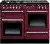 RANGEMASTER Hi-Lite 110 Dual Fuel Range Cooker - Cranberry & Chrome