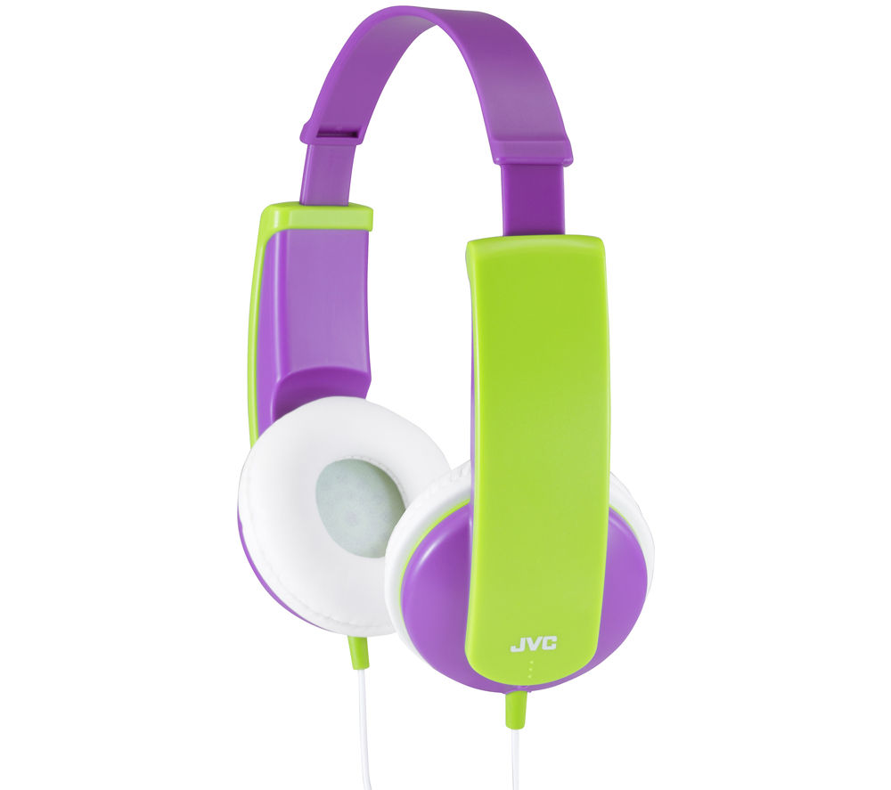 JVC Kids Headphones - Violet & Green