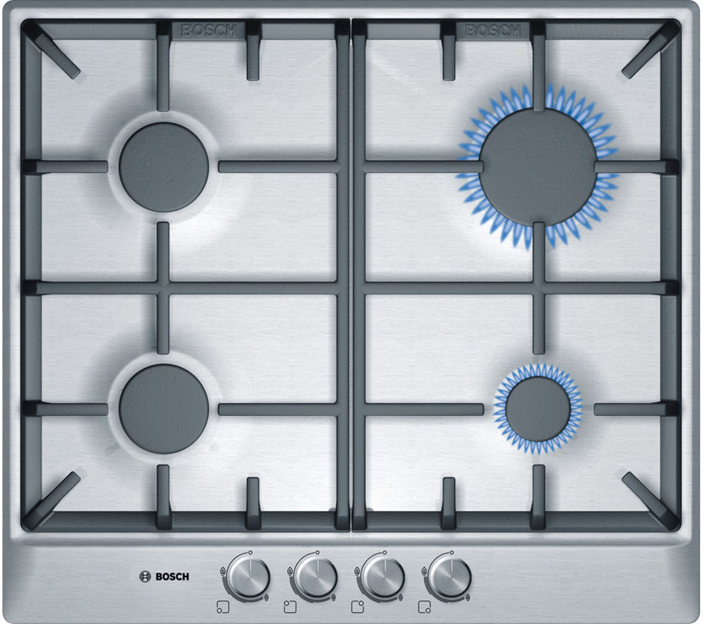 BOSCH Classixx PCP615B90B Gas Hob - Brushed Steel