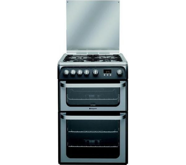 HOTPOINT HUG61G Gas Cooker - Graphite
