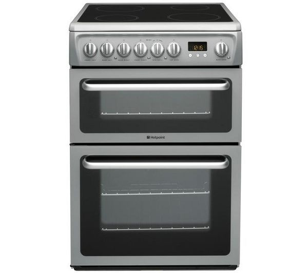 HOTPOINT DSC60S Electric Ceramic Cooker - Silver