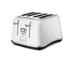DELONGHI Brillante CTJ4003.W 4-Slice Toaster - White