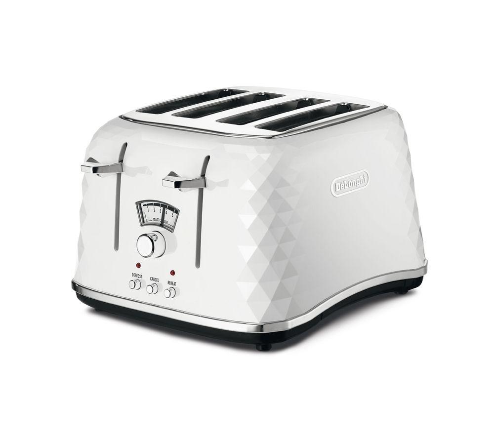 DELONGHI Brillante CTJ4003.W 4-Slice Toaster - White