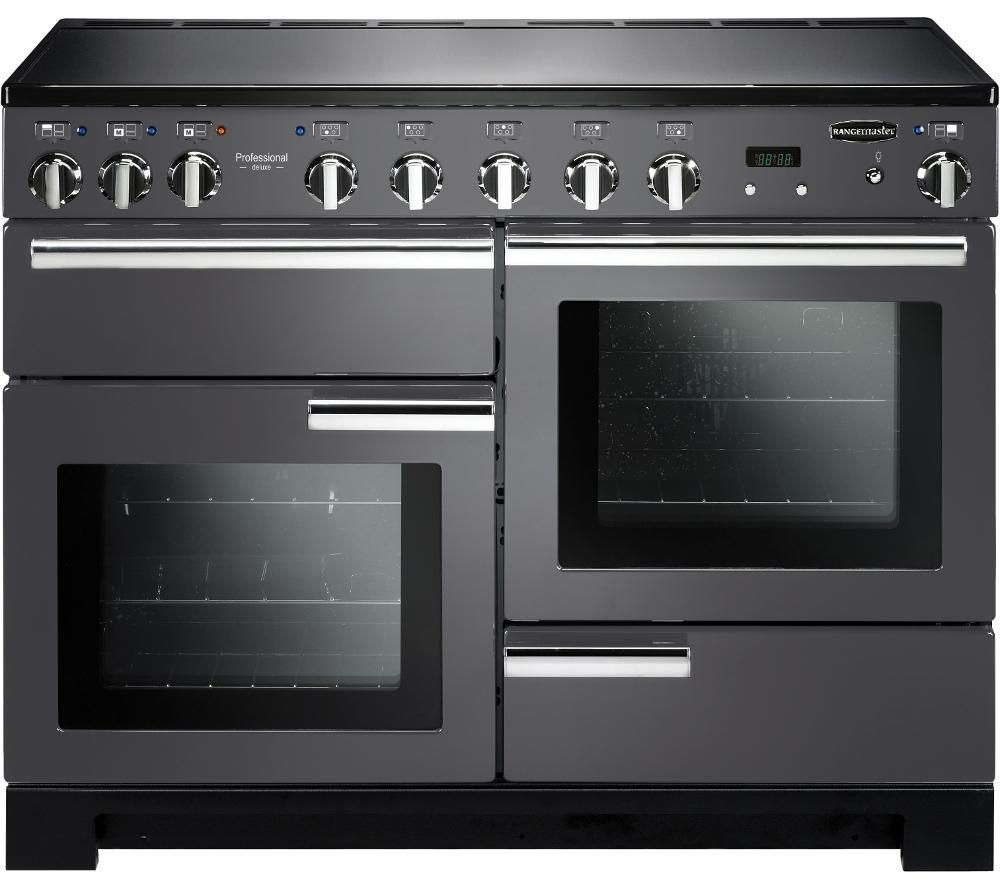 Rangemaster Professional Deluxe 110 Electric Induction Range Cooker  Slate & Chrome