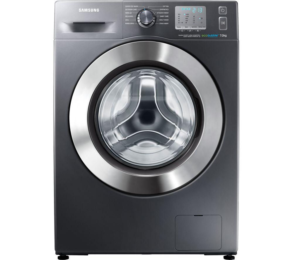 Image of Samsung ecobubble WF70F5EDW4X Washing Machine - Graphite, Graphite