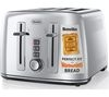 BREVILLE The Perfect Fit for Warburtons VTT571 4-Slice Toaster – Stainless Steel