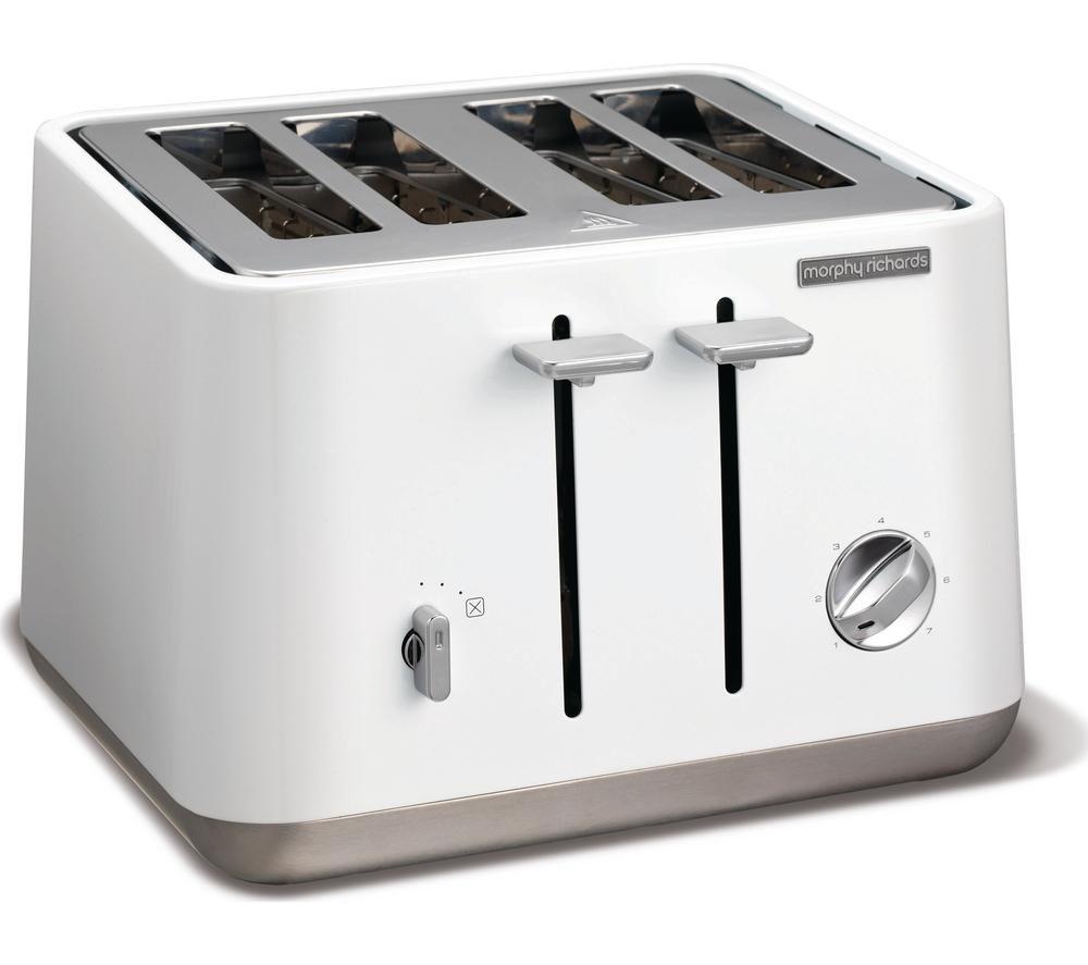 4 Slice Toaster ~ Buy morphy richards aspect slice toaster white