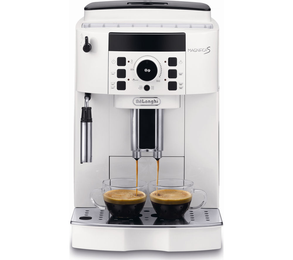 delonghi magnifica s bean to cup coffee machine white white. Black Bedroom Furniture Sets. Home Design Ideas