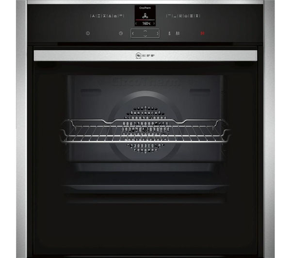 NEFF B57CR22N0B Slide & Hide Electric Oven - Stainless Steel