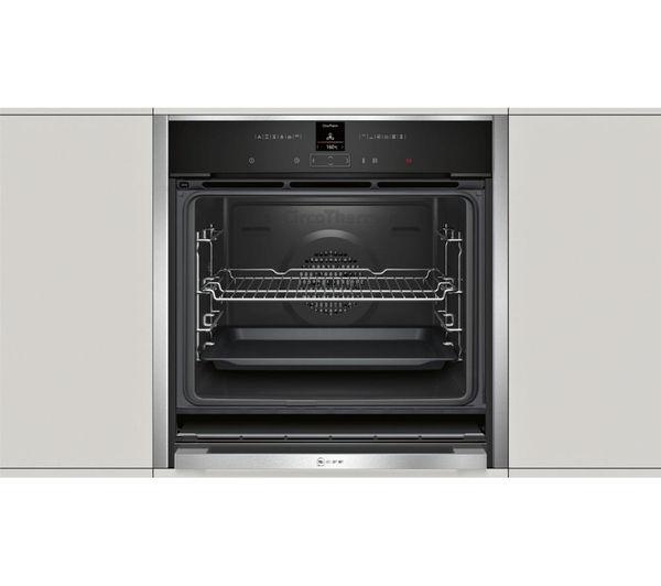 buy neff b57cr22n0b slide hide electric oven stainless. Black Bedroom Furniture Sets. Home Design Ideas