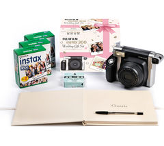 FUJIFILM Instax WIDE 300 Instant Camera Wedding Bundle - Black & Silver