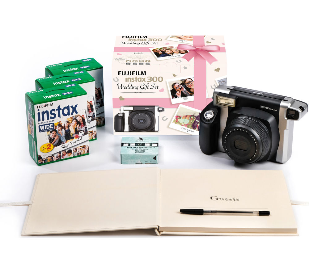 buy instax wide 300 instant camera wedding bundle black silver free delivery currys. Black Bedroom Furniture Sets. Home Design Ideas